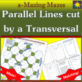 Maze and Matching Angles: Parallel Lines cut by a Transversal