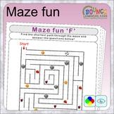 Maze fun (14 Visual perception sheets)