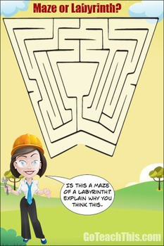 Maze or Labyrinth? 2 A Free Printable Poster Ideal for Your Math Wall