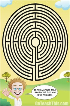 Problem Solving Activity - Is this a Maze or a Labyrinth?