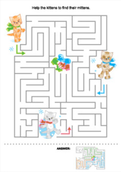 Maze with Kittens and Mittens, Commercial Use Allowed