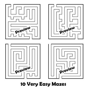 Clip Art Mazes | Clipart Bundle: Mazes and Tangles for Worksheet Design