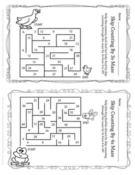 Mazes Bundle - for Counting and Skip Counting