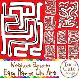 Mazes Clip Art Easy Maze Set A