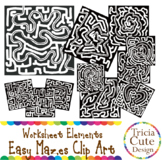 Mazes Clip Art Easy Maze Set B