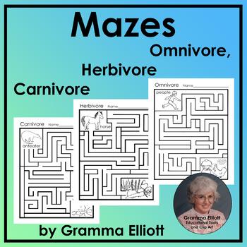 Mazes      Herbivore, Omnivore, and Carnivore  NO PREP