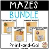 Mazes BUNDLE {Print and Go!}