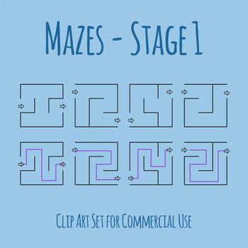 Mazes - Stage 01 Clip Art Set for Commercial Use