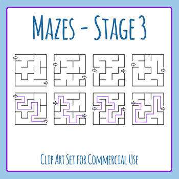 Mazes - Stage 03 Clip Art Set for Commercial Use