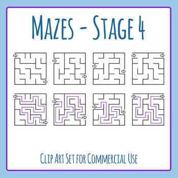 Mazes - Stage 04 Clip Art Set for Commercial Use
