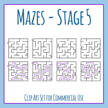 Mazes - Stage 05 Clip Art Set for Commercial Use