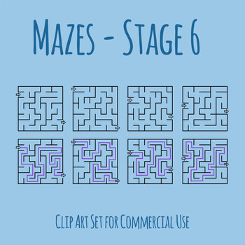 Mazes - Stage 06 Clip Art Set for Commercial Use