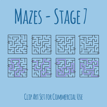Mazes - Stage 07 Clip Art Set for Commercial Use