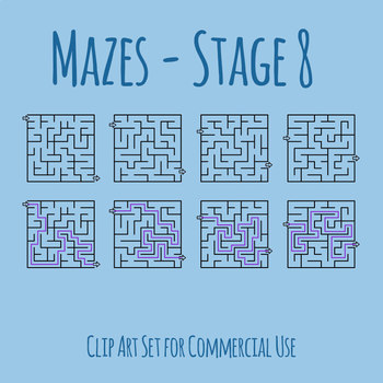 Mazes - Stage 08 Clip Art Set for Commercial Use