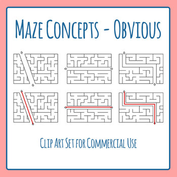 Mazes - Super Obvious Mazes - Concepts - Too Easy Clip Art Commercial use