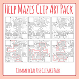 Mazes Templates - Help The... Find Their... Type Mazes Commercial Use Clip Art