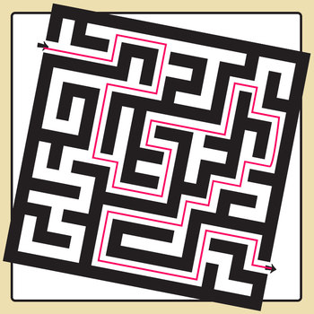 Mazes Thick Mazes with Solutions Clip Art for Commercial Use