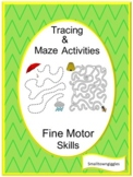 Tracing  Mazes Tracing Activities, Tracing Lines, Fine Motor Skills, Special Ed.