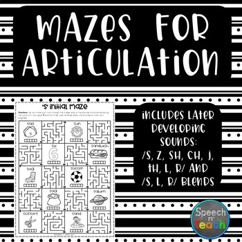 Mazes for Articulation: Later Developing Sounds