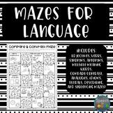 Mazes for Language