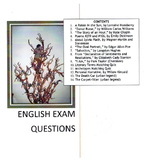 English Exam Questions