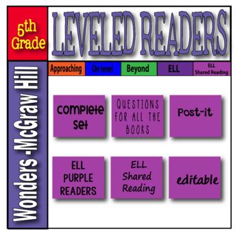 Mc Graw-Hill 5th Grade Wonders Post-its ELL