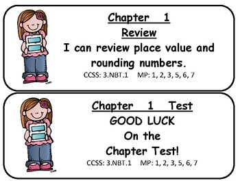 My Math! Grade 3 All Chapters Objectives Cards SAN COMIC BOLD