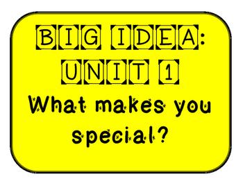 Mc Graw-Hill WONDERS Grade 1 Unit 1 Bulletin Board Set