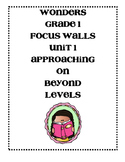 WONDERS Grade 1 Unit 1 Focus Walls