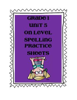 WONDERS Grade 1 Unit 5 Spelling On Level