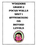 WONDERS Grade 2 Unit 1 Focus Walls