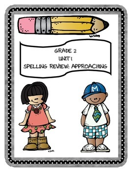 WONDERS Grade 2 Unit 1 Spelling Review Sheets