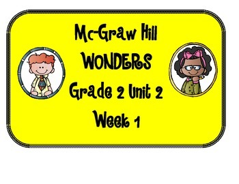 Mc Graw-Hill WONDERS Grade 2 Unit 2 Bulletin Board Set