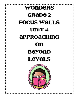 Mc Graw-Hill WONDERS Grade 2 Unit 4 Focus Walls
