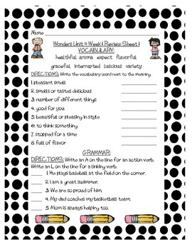 Mc Graw-Hill WONDERS Grade 3 Unit 4 Vocabulary and Grammar Reviews
