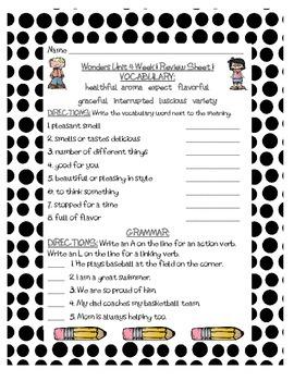 Mc Graw-Hill WONDERS Grade 3 Unit 4 Vocabulary and Grammar