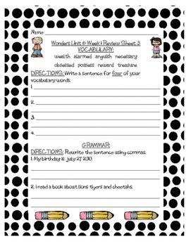 Mc Graw-Hill WONDERS Grade 3 Unit 6 Vocabulary and Grammar Reviews