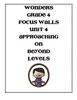 Mc Graw-Hill WONDERS Grade 4 Unit 4 Focus Walls