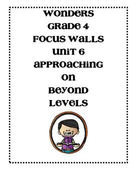 WONDERS Grade 4 Unit 6 Focus Walls