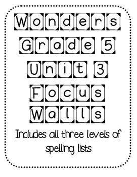 WONDERS Grade 5 Unit 3 Focus Walls