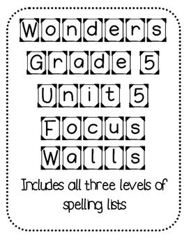 WONDERS Grade 5 Unit 5 Focus Walls
