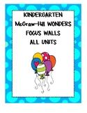 WONDERS Kindergarten ALL UNITS Focus Walls