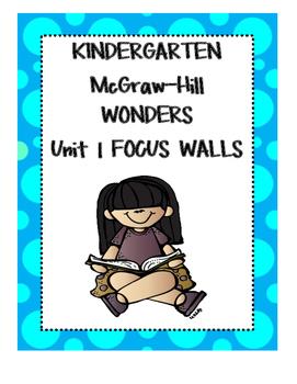 WONDERS Kindergarten Unit 1 Focus Walls