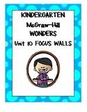 WONDERS Kindergarten Unit 10 Focus Walls