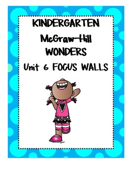 Mc Graw - Hill WONDERS Kindergarten Unit 6 Focus Walls
