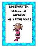 WONDERS Kindergarten Unit 7 Focus Walls