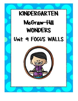Mc Graw-Hill WONDERS Kindergarten Unit 9 Focus Walls