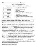 4th grade Mc Graw Hill Wonders     Unit 1 Weeks 1-5  Grade