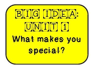 Mc Graw-Hill Wonders Grade 1 Unit 1 Week 1 Bulletin Board Sample