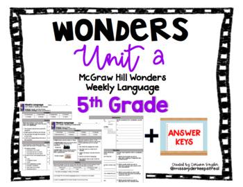 Mc-Graw Hill Wonders Unit 2 5th Grade Language Practice